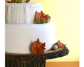 """11"""" x 15"""" Rustic wood Cake Stand"""