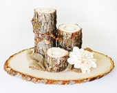 """EXTRA Large Rustic Wood Tree Slice Centerpieces, Trivets, Hot plates, Chargers - Personalized - 10"""" - 13""""  diameter - SET OF 10"""