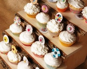 Tree slice Rustic Cupcake Stand - small