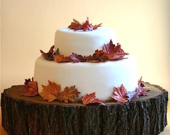 """13"""" Tree Slab Cake Stand"""