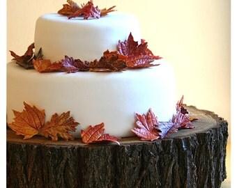 """18"""" Tree Slab Cake Stand"""