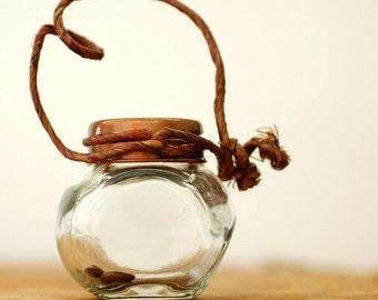 Tree Seeds in Decorative Antique Bottle