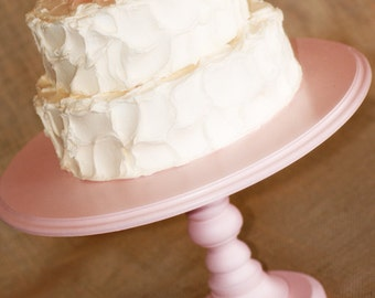 "One Pedestal Cake Stand - Any color - 8"" height - petal pink standard"