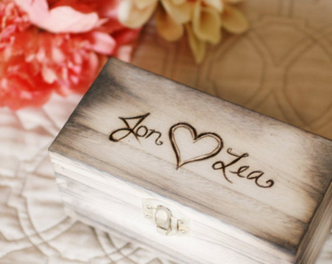 Shabby Chic Keepsake Nesting Ring Boxes or Ring Bearer boxes with latch