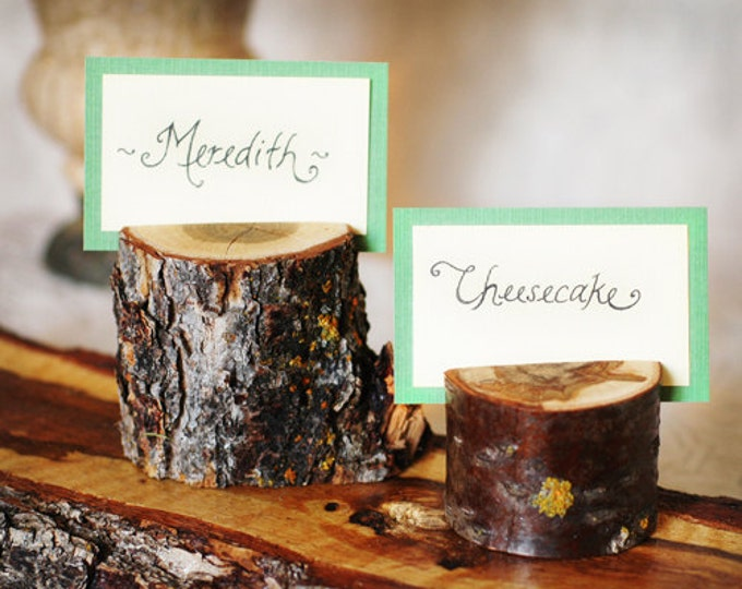 Wooden Branch Place Card Holder