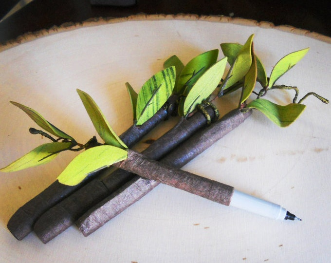 Rustic Branch Twig Pen for use with Guest books and Albums Vintage Wedding Decor