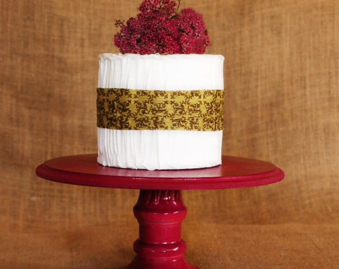 """One Pedestal Cake Stand - Any color - 8"""" height - raspberry pink standard"""