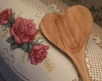 Heart Spoon Cherry Wood