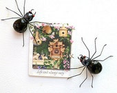 Black Spider Magnets Two Handmade