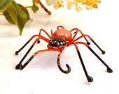 Large Handmade Black and Orange Spider Perfect for Entomologists and Bug Lovers