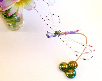 Colorful Dragonfly Simple and Unique Window Sill Ornament Home Decor Thank You Gift House Warming Gift Cute and Unique Metal Wire Bug