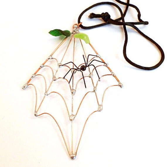 Small Spider Web and Spider Handmade