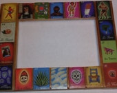 Southwestern loteria picture frame
