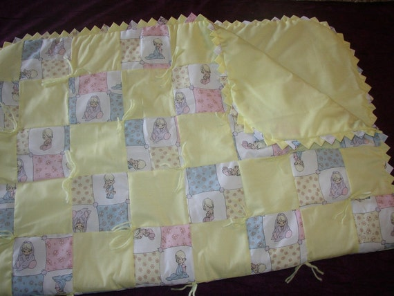 Hand Tied Baby Quilt