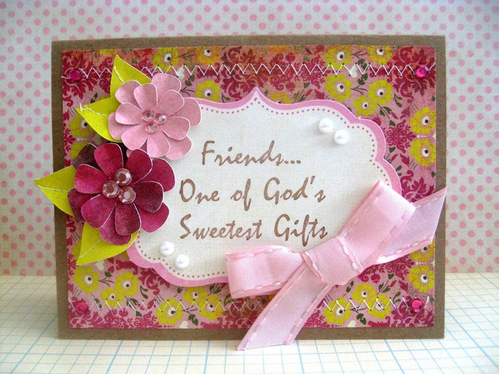 Friendship handmade greeting card