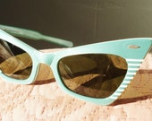 Aqua Cateye Ray Ban 50's Sunglasses