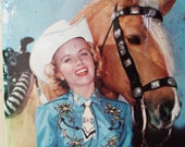 50's Cowgirl Tin Keepsake Box- Holland's Toffees