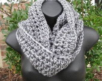 Manhattan Cowl Circle in GRAYS - Wrap, Scarf, Neckwarmer, Thermal - Gift Fall Winter Scarves - Chunky Scarf Cowl in Grays - Infinity Circle