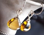 Patisserie Earrings - Cognac Quartz
