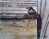 A Quiet Spot Original Signed Watercolor Painting by Artist Jodi Spilde, justforfunbyjodi
