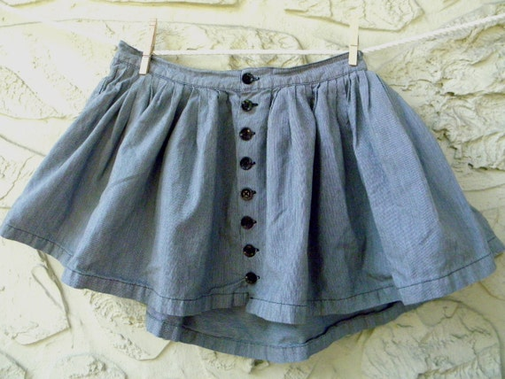 Vintage Tiny  Pin Stripe Mini Skirt - Pin Stripe - Mini Skirt