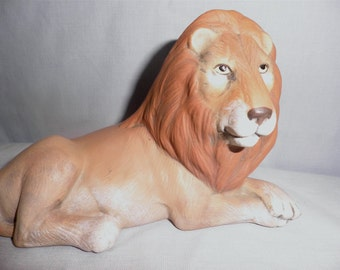 Lion  A46, Hand Painted Ceramic