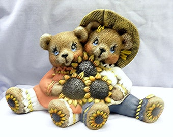 Sunflower Cuddlebears   A124