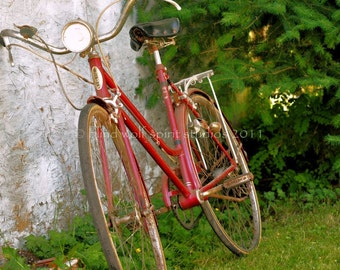 Red Bike Fine Art Photo
