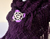 SPECIAL ORDER  Purple Mohair Shawl