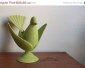 20% OFF SALE vintage 60s MOD green deldan design bird figurine