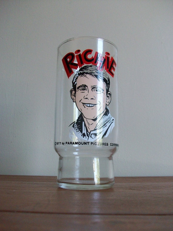 Vintage 1977 Dr. Pepper Happy Days Richie Glass