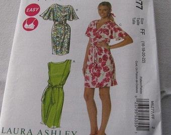 Misses Dress Laura Ashley Misses size FF   (16-18-20-22) McCALLS Pattern M6277