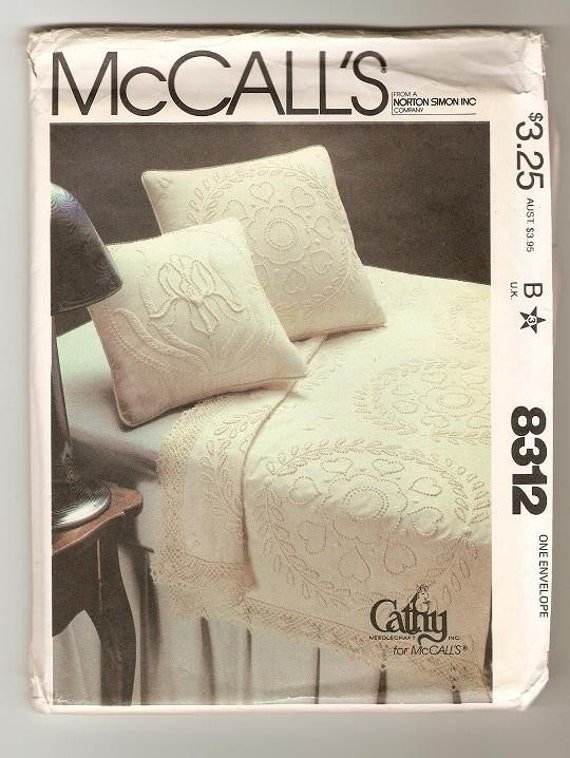 McCalls 8312 Candlewicking Patterns and Transfers