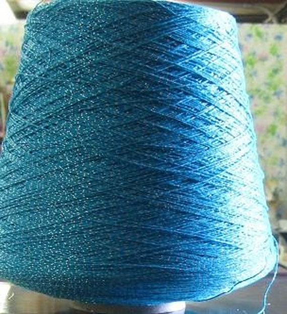Crochet Thread Turquoise with Silver