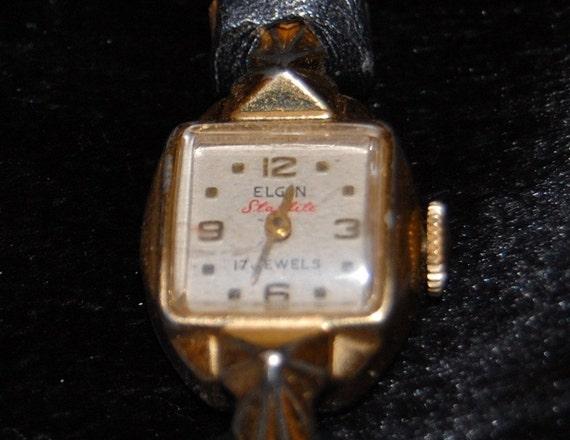 Vintage Ladies Watch Elgin Starlite 17 Jewels