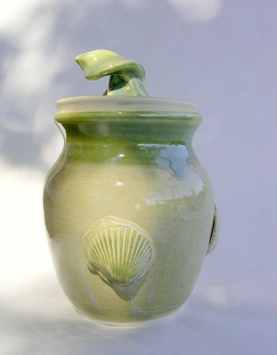 Storage canister jar with lid and shell design