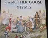 Collectible 1954 Marguerite de Angeli's Book of Nursery and Mother Goose Rhymes, BEAUTIFUL & CLASSIC