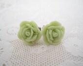 Foliage Green Stud Earrings