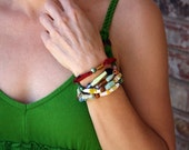 Fabric Bead Bracelets (set of 3)