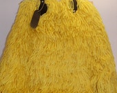 RESERVED-Crochet Tote- Yellow