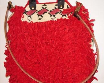 Red Crochet Handbag