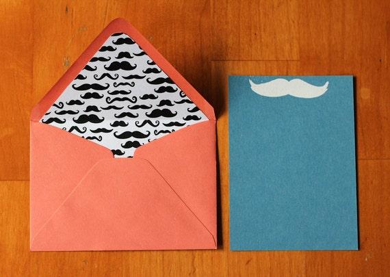Mustache Stationary Set