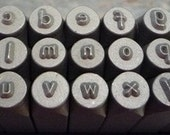 "Lowercase Comic Metal Alphabet Stamps - 1/8"" (3mm)"