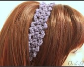 Crochet Headband Purple Hair Tie
