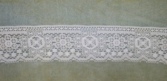 Vintage Lace, White, Wide, From the Spool, Cluny