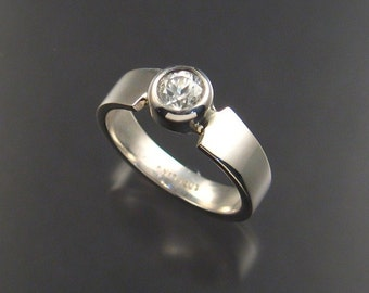 White Zircon ring, Sterling, Size 7