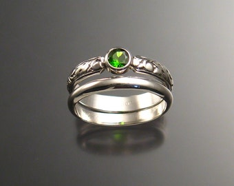 Chrome Diopside Wedding set, Sterling, any  size