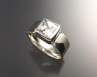 Cubic Zirconium Mans ring in Sterling, Any Size