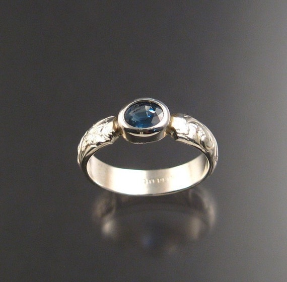 Sapphire ring, Sterling, size 6 1/2