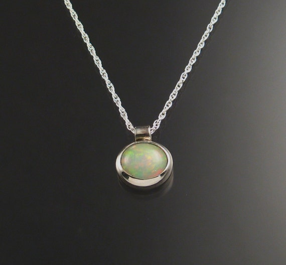 Ethiopian Opal necklace, Sterling